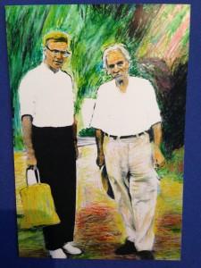 Dr. Lindemann mit Albert Schweitzer