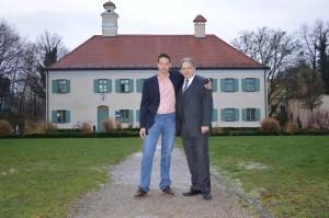 Frank Rose und Stefan Duschl vor dem Pelkenschlössl