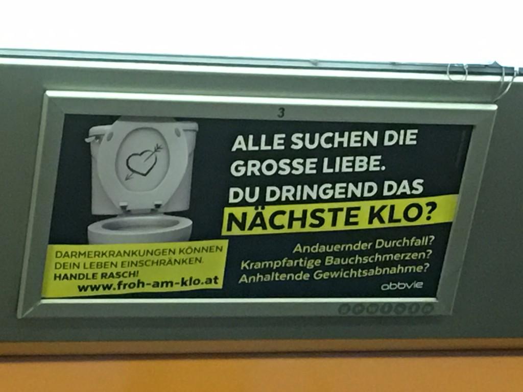 Der Humor zeigt sich auch in so mancher U Bahn - Reklame ...