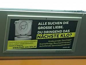 Der skurrile Humor zeigt sich auch in so mancher U Bahn - Reklame ...