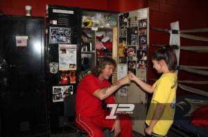 Auch ganz kleine Leute werden trainiert :-)) Foto@FirstPunch